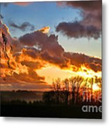 Sunrise Over Countryside Metal Print