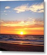 Sunrise Over Dolphins Metal Print