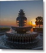 Sunrise Over Downtown Charleston  Metal Print