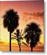 Sunrise Over Florida Bay Metal Print