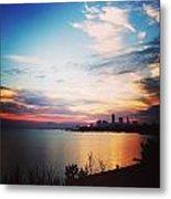 Sunrise Over Lake Erie Cleveland Metal Print