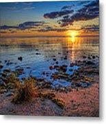 Sunrise Over Lake Michigan Metal Print