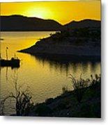 Sunrise Over Lake Pleasant Metal Print