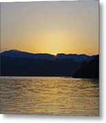 Sunrise Over Lough Eske And The Bluestack Mountains Metal Print