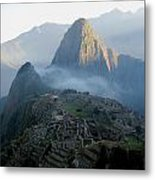 Sunrise Over Machu Picchu Metal Print