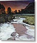 Sunrise Over Sheep Lakes Metal Print by Tom Wilbert