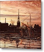 Sunrise Over St Marys Church And Rotherhithe London Metal Print