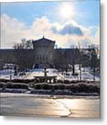 Sunrise Over The Art Museum In Winter Metal Print
