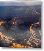 Sunrise Over The Canyon Metal Print
