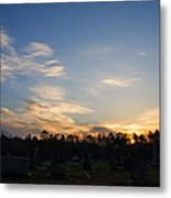 Sunrise Over The Cemetary Metal Print