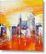 Sunrise Over The City Of Oaks Metal Print