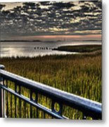 Sunrise Over The Cooper River Metal Print