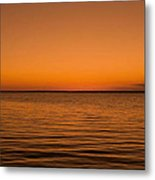 Sunrise Over The Lake Of Two Mountains - Qc Metal Print