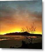 Sunrise Over The Lighthouse  Metal Print