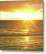 Sunrise Over The Pacific Ocean, Cabo Metal Print