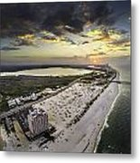 Sunrise Over The Royal Palms Metal Print
