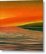 Sunrise Over The Sea Metal Print