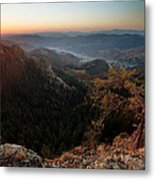 Sunrise Over The Town Of Smolyan Metal Print