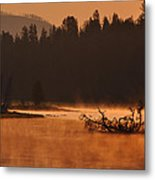 Sunrise Over The Yellowstone River Metal Print
