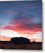 Sunrise Over Uluru Metal Print
