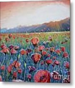 Sunrise Poppies Metal Print by Andrei Attila Mezei