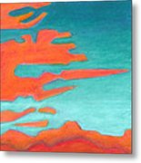 Sunrise Pursuit Metal Print