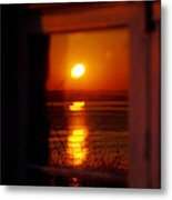 Sunrise Refection Metal Print