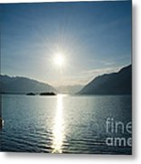 Sunrise Reflected Over An Alpine Lake Metal Print