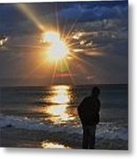 Sunrise Run On The Beach Metal Print