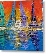 Sunrise Sail Metal Print