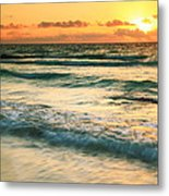 Sunrise Seascape Tulum Mexico Metal Print