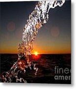 Sunrise Splash Metal Print
