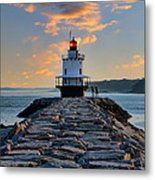 Sunrise Spring Point Ledge Metal Print