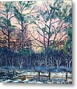 Sunrise Stillness Metal Print by Jean Ann Curry Hess
