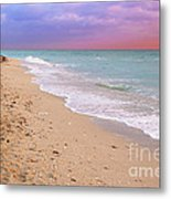 Sunrise Surf At Miami Beach  Metal Print