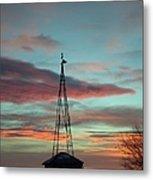 Sunrise Windmill Metal Print