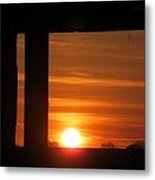 Sunrise Window Metal Print