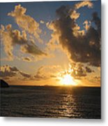 Sunrise With Clouds St. Martin Metal Print