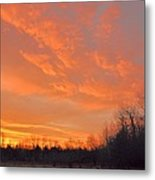 Sunrise With Horses Metal Print