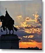 Sunrise With Saint Louis The 9th Metal Print