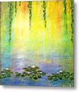 Sunrise With Water Lilies Metal Print