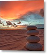 Sunrise Zen Metal Print by Sebastian Musial