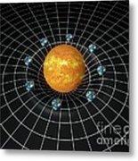 Sun's Gravity Well, Artwork Metal Print