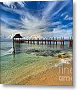 Sunscape Sabor Pier Metal Print