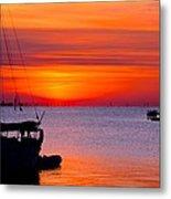 Sunset @ Galveston Bay Metal Print