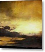 Pouzol Sunset 92 X 122cm Metal Print
