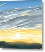 Sunset Above The Hill Metal Print