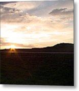 Sunset Across I 90 Metal Print