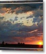 Sunset After A Thunderstorm Photoart Metal Print