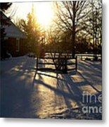 Sunset After The Snow Storm Metal Print